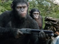 "Caesar (Andy Serkis) is not fond of guns in 'Dawn of the Planet of the Apes.' He's trying to be a leader. ""Caesar's ethos is that apes do not like guns,"" says Serkis. ""He's trying to find a peaceful accord with the humans who show up. He's an empathetic character."""