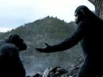 """Caesar (Andy Serkis) and Koba (Toby Kebbell) have had their differences. But Caesar has proven to be the alpha male. """"All of the apes follow Caesar with tremendous allegiance and respect,"""" says Reeves. """"He is their king and sort of their father."""""""